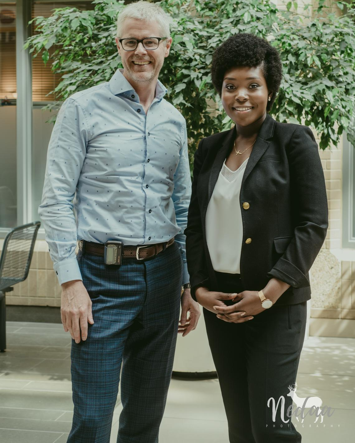The University of Calgary's Andrew Daly performed the stem cell transplant that cured Revée Agyepong's sickle cell anemia.